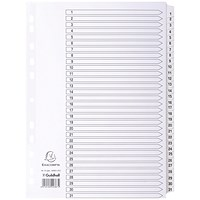 Guildhall File Dividers, 1-31, Mylar Tabs, A4, White