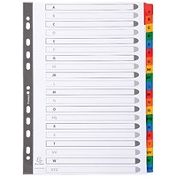 Exacompta Guildhall Mylar Index Coloured Tabs 20-Part A-Z A4 White