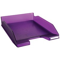 Exacompta Iderama A4 Letter Tray Purple (W255 x D346 x H65mm)