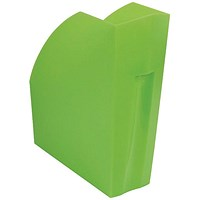 Exacompta Iderama A4+ Magazine File Lime (W110 x D346 x H320mm)