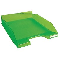 Exacompta Iderama A4+ Letter Tray Lime (W255 x D346 x H65mm)