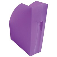 Exacompta Iderama A4 Magazine File Purple (W110xD346xH320mm)