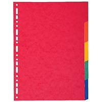 Exacompta Recycled 5-Part Dividers 225gsm A4 Maxi Bright Multi