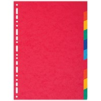 Exacompta Recycled 10-Part Dividers 225gm A4 Maxi Bright Multi