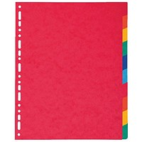 Exacompta Subject Dividers, Extra-wide, 10-part, A4, Assorted