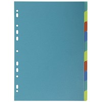 Exacompta Forever Recycled Plastic 10 Part Dividers A4 2710E
