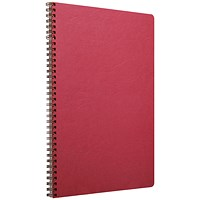 Clairefontaine Age Bag Wirebound Notebook A4 Red (Pack of 5)