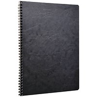 Clairefontaine AgeBag Wirebound Notebook A4 Black (Pack of 5)