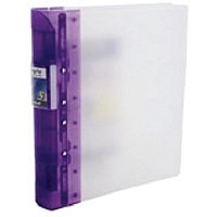 Guildhall GLX Ergogrip Binder, A4, 4x 2 Prong, 55mm Capacity, Lilac, Pack of 2