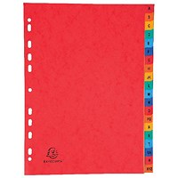Exacompta Europa Coloured Pressboard Index 20-Part A-Z A4