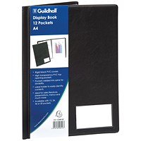 Exacompta Guildhall Display Book 12 Pocket A4 Black