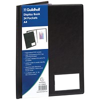 Exacompta Guildhall Display Book 24 Pocket A4 Black