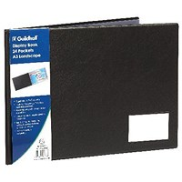 Exacompta Guildhall Display Book Landscape 24 Pocket A3 Black