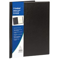 Exacompta Guildhall Display Book Portrait 24 Pockets A3 Black