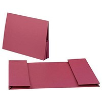 Guildhall Legal Wallets, Double 35mm Pocket, Manilla, 315gsm, Foolscap, Red, Pack of 25