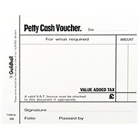Guildhall Petty Cash Pad 100 Leaves 127x102mm White (Pack of 5) 103 1569
