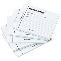 Guildhall Telephone Message Pad 100 Sheet 127x102mm (Pack of 5)
