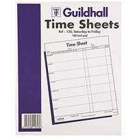 Guildhall Work Time Sheet Saturday - Friday 254x203mm (Pack of 100) 1653
