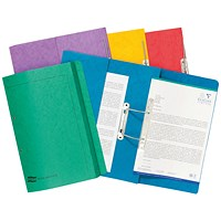 Exacompta Pocket Transfer Files, 285gsm, Foolscap, Assorted, Pack of 25