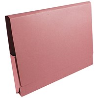 Guildhall Full Flap Legal Document Wallets, 315gsm, W356xH254mm, Pink, Pack of 50