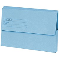 Guildhall Document Wallets, Foolscap, Blue, Pack of 50
