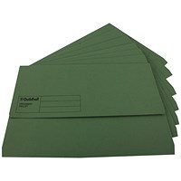 Guildhall Document Wallets, Foolscap, Green, Pack of 50