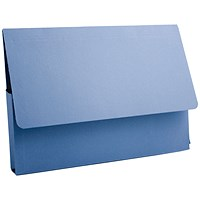 Guildhall A4 Document Wallets, 285gsm, Blue, Pack of 50