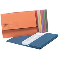 Guildhall Document Wallets, Foolscap, Assorted, Pack of 50