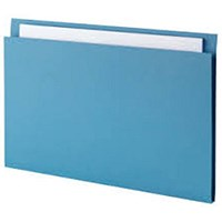 Guildhall Square Cut Folders, 315gsm, Foolscap, Blue, Pack of 100