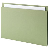Guildhall Square Cut Folders, 315gsm, Foolscap, Green, Pack of 100