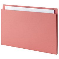 Guildhall Square Cut Folders, 315gsm, Foolscap, Pink, Pack of 100