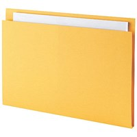 Guildhall Square Cut Folders, 315gsm, Foolscap, Yellow, Pack of 100