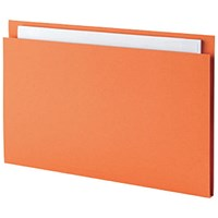 Guildhall Square Cut Folders, 315gsm, Foolscap, Orange, Pack of 100