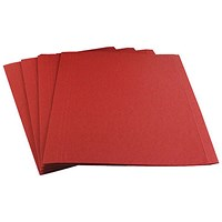 Guildhall Square Cut Folders, 315gsm, Foolscap, Red, Pack of 100
