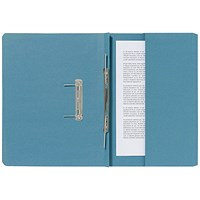 Guildhall Pocket Transfer Files, 285gsm, Foolscap, Blue, Pack of 25