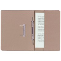 Guildhall Pocket Transfer Files, 285gsm, Foolscap, Buff, Pack of 25