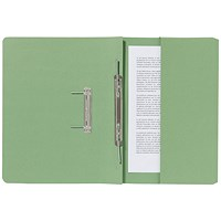 Guildhall Pocket Transfer Files, 285gsm, Foolscap, Green, Pack of 25