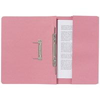 Guildhall Pocket Transfer Files, 285gsm, Foolscap, Pink, Pack of 25