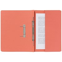 Guildhall Pocket Transfer Files, 285gsm, Foolscap, Orange, Pack of 25