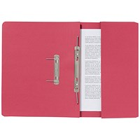 Guildhall Pocket Transfer Files, 285gsm, Foolscap, Red, Pack of 25