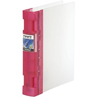 Guildhall GLX Ergogrip Binder, A4, 4x 2 Prong, 40mm Capacity, Raspberry, Pack of 2
