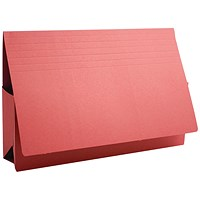 Guildhall Probate Wallets, Manilla, 315gsm, 75mm, Foolscap, Red, Pack of 25