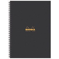 Rhodia Meeting A4 Book Wirebound Hardback Black 160 Pages (Pack of 3)