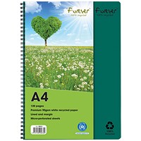 Forever Notebook A4 Green (Pack of 5)