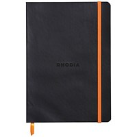 Rhodia Soft Cover Notebook 160 Pages A5 Black