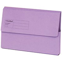 Guildhall Document Wallets, Foolscap, Violet, Pack of 50