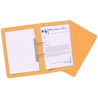 Guildhall Transfer Files, 315gsm, Foolscap, Orange, Pack of 50