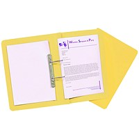 Guildhall Transfer Files, 315gsm, Foolscap, Yellow, Pack of 50