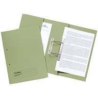 Guildhall Front Pocket Transfer Files, 315gsm, Foolscap, Green, Pack of 25