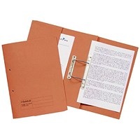Guildhall Front Pocket Transfer Files, 315gsm, Foolscap, Orange, Pack of 25